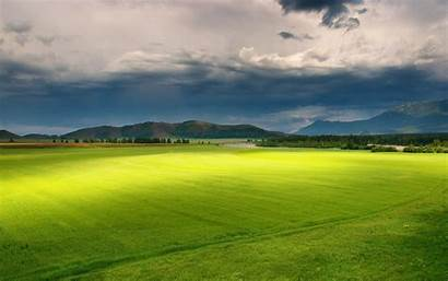 Field Nature Landscape Clouds Mountains Hills Trees