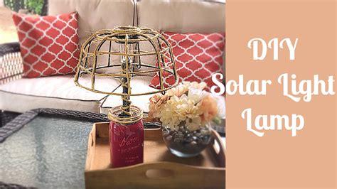 diy dollar tree solar light lamplantern youtube