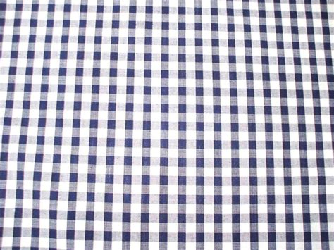 1 4 gingham quality polycotton fabric in navy blue