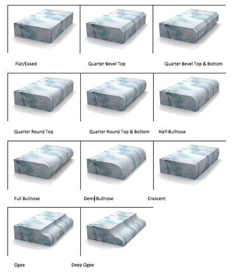 countertop edge types countertop edge profiles stoneworks granite quartz