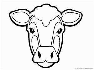 cow template printable coloring home With bull mask template