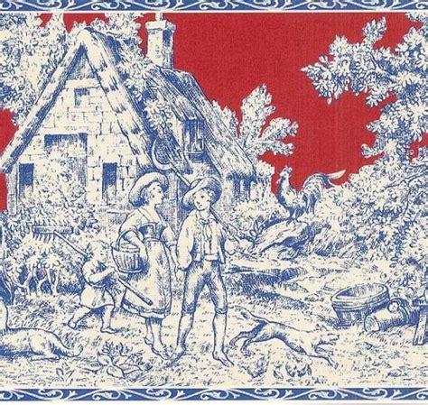 French Toile Wallpaper Red Wallpapersafari