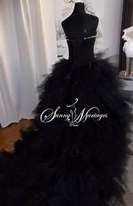 Robe De Mariée Noire : robe de marie noire pas cher vente en ligne ou sur r v ~ Dallasstarsshop.com Idées de Décoration