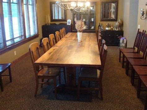 oak farm table idea board large dining room table