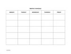 Blank Weekly Schedule Template