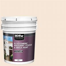 Behr Premium 5 Gal Elastomeric Masonry, Stucco And Brick