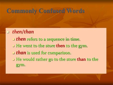 Ppt  Commonly Confused Words Powerpoint Presentation Id