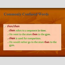 Ppt  Commonly Confused Words Powerpoint Presentation Id1600487