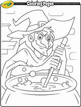 Coloring Witch Crayola Cauldron Halloween Easter Witches Colouring Spooky Printable Template Freebies Adult Sheets Hat Crafts Stamping sketch template