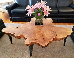large tree slice coffee table live edge table round coffee With sliced log coffee table