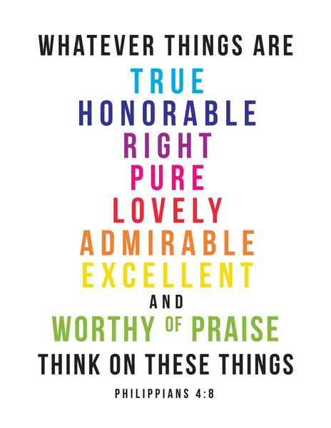 think on these things philippians 4 8 print by amen