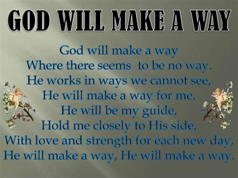 God Will Make A Way Quotes