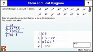Stem And Leaf Diagrams Gcse Maths Foundation Revision Exam Paper Practice  U0026 Help