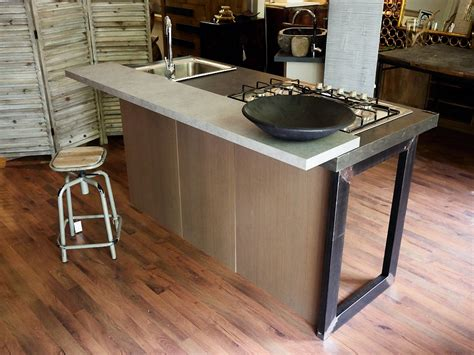 lavello e piano cottura penisola con piano cottura ef23 pineglen