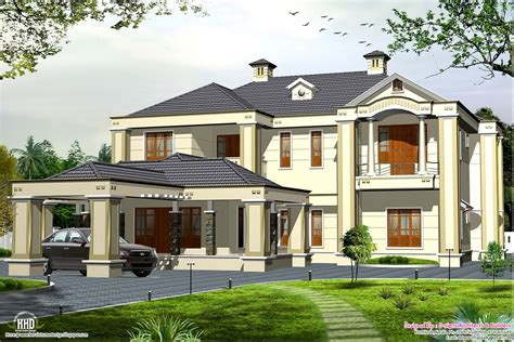 Colonial style 5 bedroom Victorian style house - Kerala