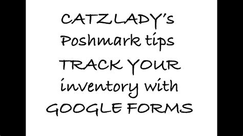 google forms for inventory google forms for tracking supplies and inventory youtube