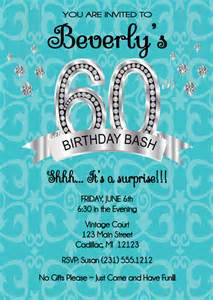 60th Birthday Invitations Printable