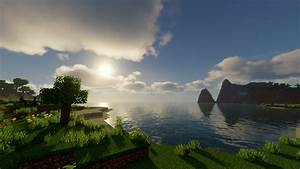sun above sea hd minecraft wallpapers hd wallpapers id