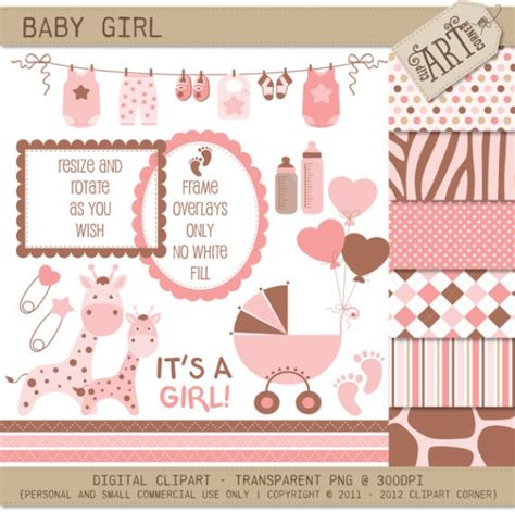 clipart bundle baby girl  clip art luvly