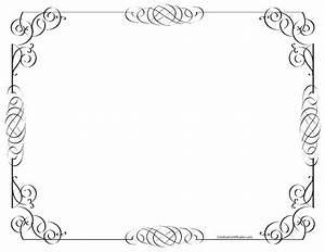 Black and White Border | Free Customizable Instant Download