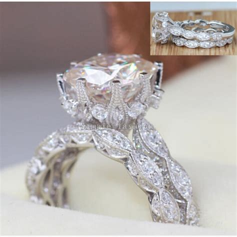brand design vintage ring  cut ct  zircon cz