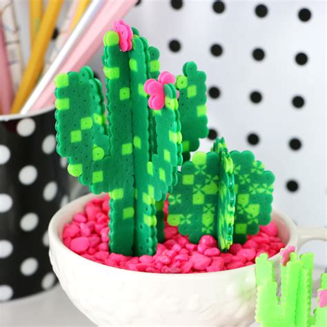 diy perler bead cacti succulents karen kavett