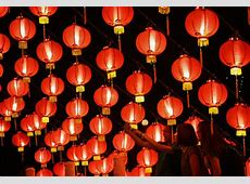 Lanterns decorate temple to celebrate Chinese New Year in