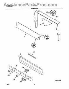 Parts For Frigidaire Fgf316asa  Backguard Parts