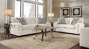 Lucan cream 5 pc living room living room sets beige for Cream living room furniture