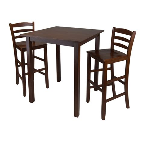 winsome parkland 3 piece pub table set reviews wayfair
