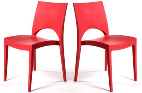 chaises rouges lot de 2 chaises design rouges delhi design sur sofactory