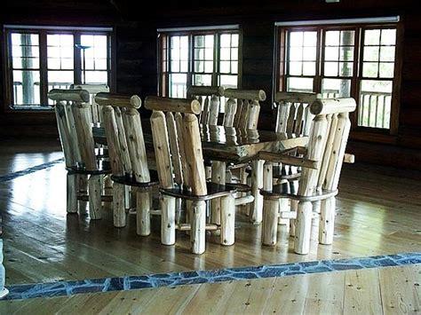 decorando el hogar muebles hechos  troncos de madera