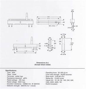 Alpha Schiebepotentiometer  60mm  Linear 10k