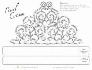 printable tiara crown template printables worksheets