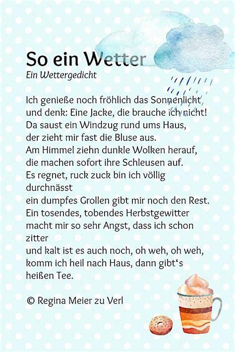 Herbst Garten Gedicht by So Ein Wetter N 233 Met Kinder Gedichte Gedichte F 252 R