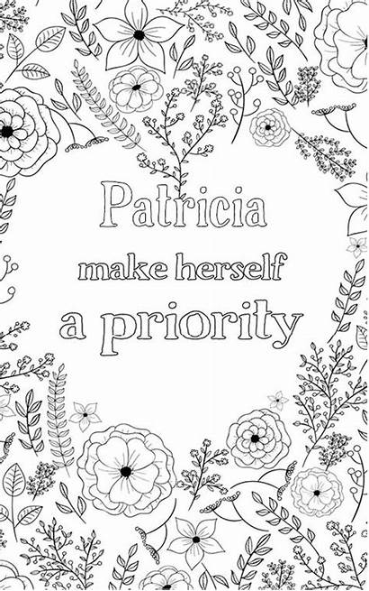 Patricia Personalised Nobel Pages Coloring Feel