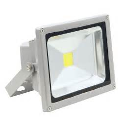 Led w flood light exterior outdoor black plug play