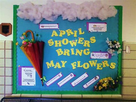 Colorful Carpet Squares by April Showers Spring Bulletin Board