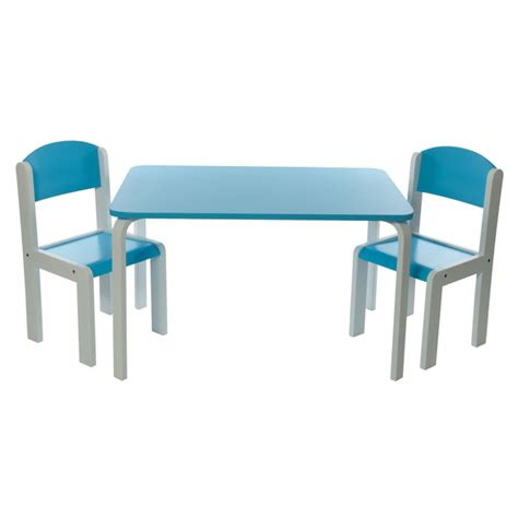 table chaise enfants ensemble table chaises fabio xl bleu w320 achat