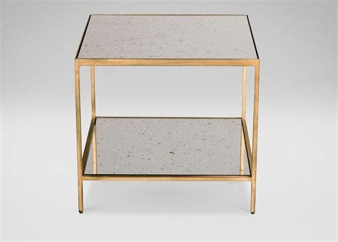 Antique Mirror Square Gold Frame Coffee Table
