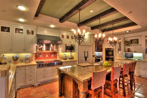wood floor tiles Kitchen Mediterranean with OLD SPANISH