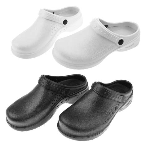 kitchen clogs black white chefs shoes safety footwear