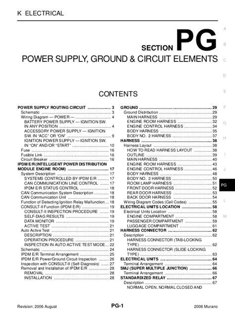 Nissan Murano Service Repair Manual