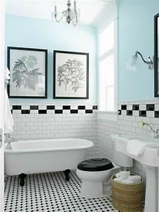 Couleur Mur Salle De Bain : id e d coration salle de bain salle de bain avec carrelage blanc mur de couleur bleu ciel ~ Dode.kayakingforconservation.com Idées de Décoration