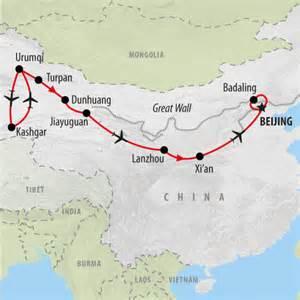 China Silk Road Map