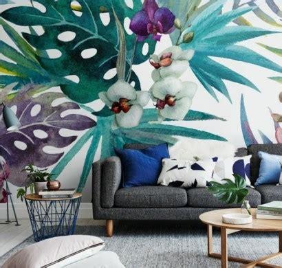 wandmalerei macht das wohnzimmer noch wohnlicher
