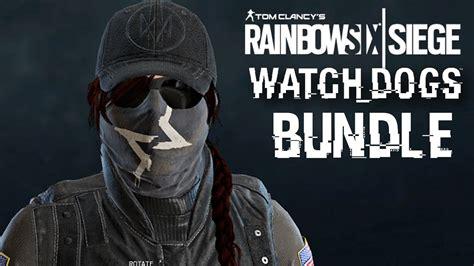 Rainbow Six Siege Ash Watch Dogs Bundle Gameplay Skin Head