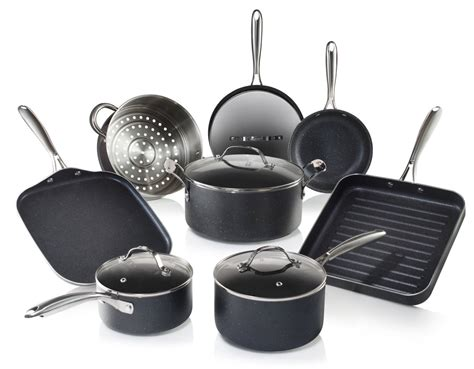 granite cookware stone pans pots seen walmart griddle coated grill nonstick ultimate piece