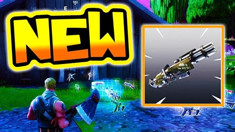 fortnite update  lmg weapon coming  battle