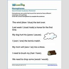 Vocabulary Worksheets  Printable And Organized By Subject  K5 Learning